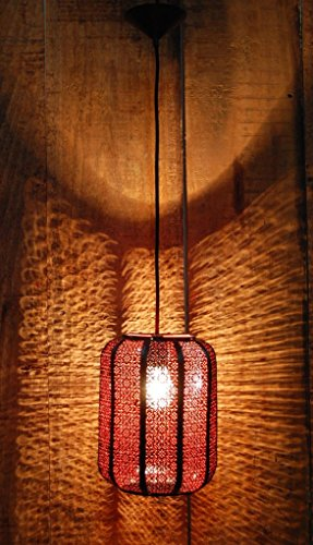 Logam Unique Vintage Moroccan Red hanging Ceiling Lamp