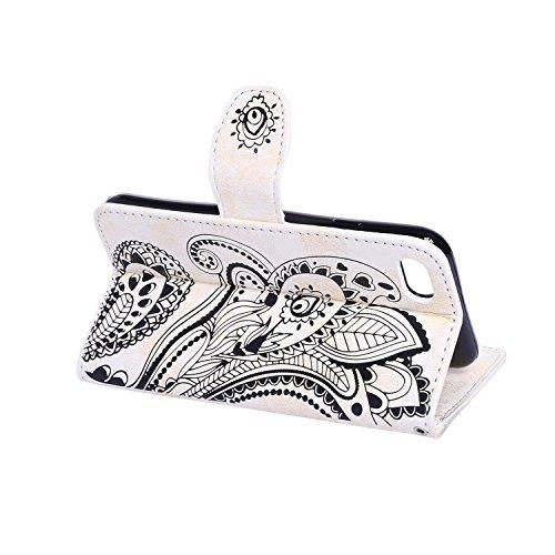 Etui Coque PU Slim Bumper pour Apple iPhone 7 (4,7 pouces) Souple Housse de Protection Flexible Soft Case Cas Couverture Anti Choc Mince Légère Silicone Cover Bouchon -photo Frame Keychain #AI (1) 4