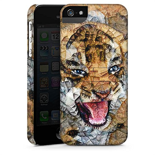 Apple iPhone X Silikon Hülle Case Schutzhülle Angry Cat Tiger Katze Premium Case StandUp