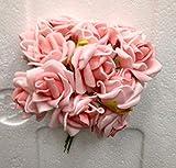 72 PZ Rosa Rosellina ROSA media in lattice decorazione fiore bomboniera