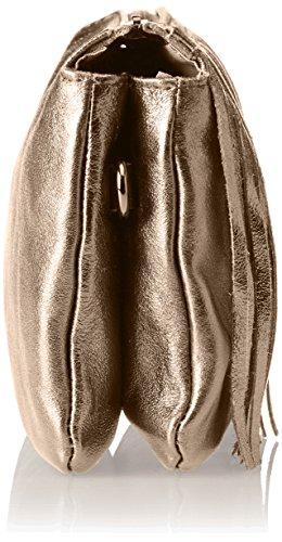 Chicca Borse Damen 1612 Schultertasche, 28x16x5 cm Marrone (Bronzo)