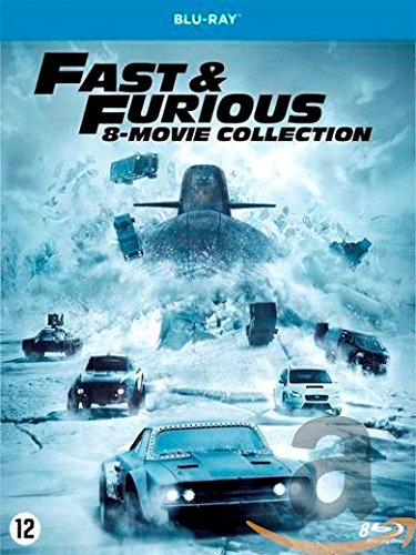 fast and furious 1 7 blu ray BLU-RAY - Fast & Furious 1-8 (1 Blu-ray)