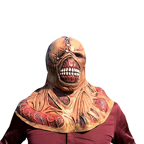 thematys Nemesis Horror Zombie Maske - perfekt für Fasching, Karneval & Halloween - Kostüm für Erwachsene - Latex, Unisex (Maske Zombie)