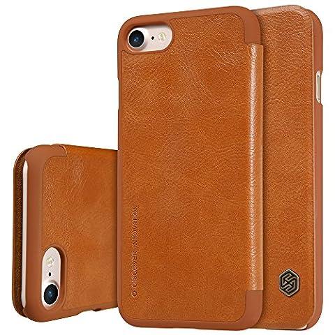 Nillkin, Qin Leder Cover Fall für Apple iPhone 7Plus–Braun