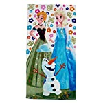 Disney - Frozen Beach /Bath Towel - Design features Anna, Elsa and Olaf