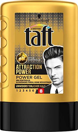Schwarzkopf 3 Wetter Taft Gel Attraction Power unwiderstehlicher Halt 8, 6er Pack (6 x 300 ml)