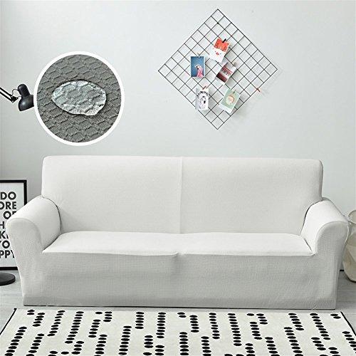 Liveinu Impermeabile Copridivano Elasticizzato con Tessuto Jacquard Copridivano Elastico per Divano 3 posti 190cm-230cm Bianco
