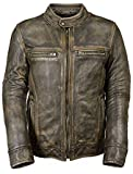 JNJ - Chaqueta - chaqueta - para hombre marrón Distress Brown Medium