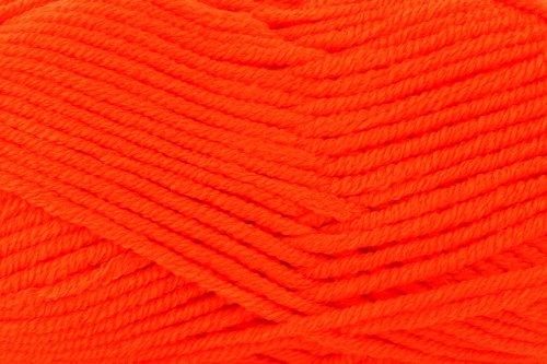 Gründl Paula Uni Garn, Neon Orange (Neon-orange Kissen)