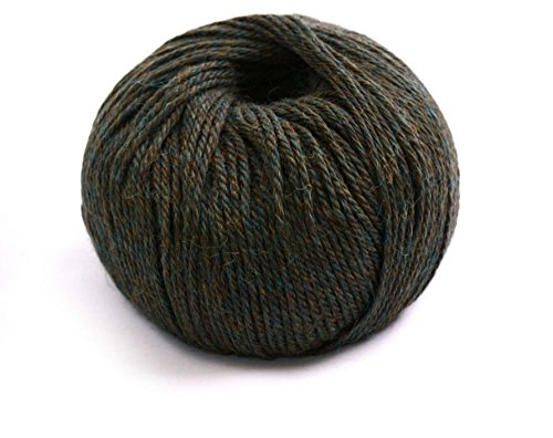 100% Luxuriöse Baby Alpaka Wolle/Garn aus Peru, melange Green M651, DK 50g -
