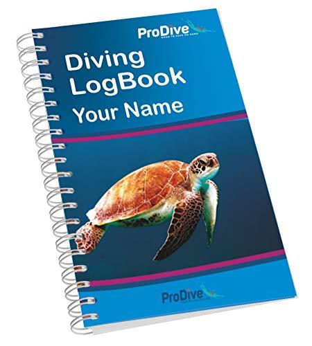 ProDive Personalisiertes Name Tauch-Logbuch Logbuch Geschenk für Taucher PADI Standard (Turtle)