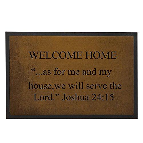 Welcome Home Fußmatte 60x 40cm Modern Bibel Zitat Fußmatte Outdoor Willkommen, langlebig Outdoor Fußmatte Home Dekore Teppich Funny Wir wird in der Last (Bibel Und Halloween)