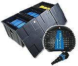 CBF3 + Teichpumpe 8000 Teichfilter Teichfilteranlage Koifilter Filterset