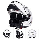 GSDZN - Motorradhelm Klapphelme Doppelte Linse Anti-Fog Anti-UV ABS-Material Unisex Persönlichkeit Helme,J-L