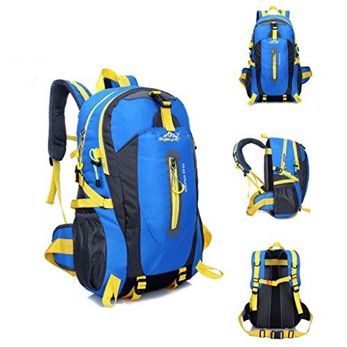 40L Wasserfeste Sporttasche, Trekkingsack für Reisen, Wandern, Trekking, Bergsteigen, Klettern, Radfahren, Camping Blau