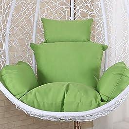 BAOFUL Coussin de Chaise pour Le Swing épais,Rond Patio Jardin en Osier Suspendus De œuf Chaise De Rotin Hamac Coussin…