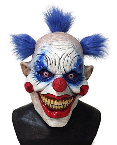 Premium Halloween Clownsmaske - Maske Killer Joker Clown Horror ab 18 Jahre - gruselige Maske - one Size für Damen und Herren von TK-Gruppe (Joker Frau Kostüme)