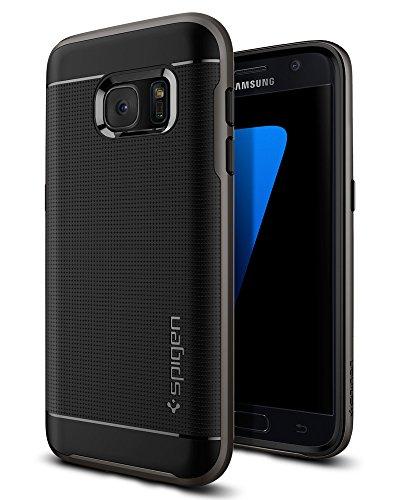 Samsung Galaxy S7 Hülle, Spigen [Neo Hybrid] Dual-Layer Schutzrahmen [Gunmetal] Metallisierte tasten / Durchsichtige TPU Schale + PC Farbenrahmen Schutzhülle für Samsung S7 Case, Samsung S7 Cover - Gunmetal (555CS20141)