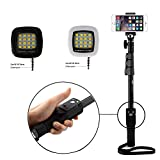 #2: Unifree YT-1288 A Bluetooth Selfie 2 In 1 Adjustable Monopod Stick AND Selfie Flash Light for Smartphones & DSLR Cameras with Bluetooth Remote Shutter Combo Compatible with Nikon, Cannon, Sony DSLR, Apple, Samsung, Htc, Lenovo, Oneplus, Motorola, Nexus, Xiaomi Redmi Note 3 ETC. (1)