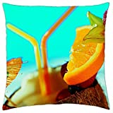 cocktail fruit slices - Throw Pillow Cover Case (18 x 18)