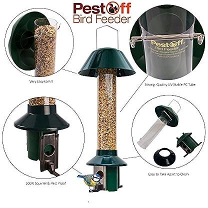 Squirrel Proof Wild Bird Feeder - Roamwild PestOff (Mixed Seed / Sunflower Heart Feeder) 5