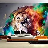 Lvabc Kundenspezifisches Plakat-Wandbild Des Modernen Entwurfs Bunte Löwe-Tapeten-Rollenschlafzimmer-Sofa-Hintergrund-3D-250X175Cm