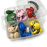 Coskiss DIY Krankenpflege-Schmucksache-Kombination-Paket 30pcs gemischte Farben-hölzerne natürliche Baby-Schnuller-Klipp-Baby-Zettel-Spielwaren eingestellt (A116)