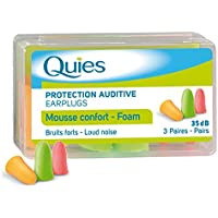 Quies Rubber Foam Ear Plugs 3 Pairs - Colour : Disco by Quies