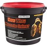 Whey Muscle Gainer 3kg! Whey protein Whey Gainer Anabolika Eiweiss Kraft Muskelaufbau Geschmack Erdbeere