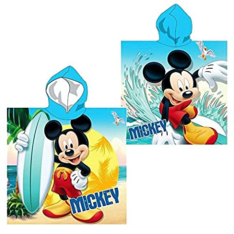 Disney Mickey Mouse - Enfants Serviette à Capuche Poncho Surf