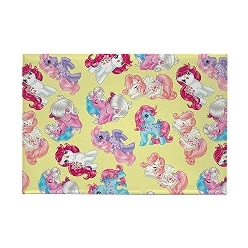 e Pony Retro Three Ponies - Rechteckiger Magnet, 5,1 x 7,6 cm Kühlschrankmagnet ()