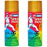 Abro Spray Paint (400 ml, Gold, Pack of 2)