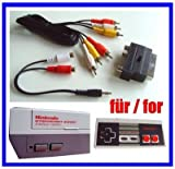 NES AV Cinch Chinch TV Video Kabel + Scart Adapter für Nintendo NES Konsole