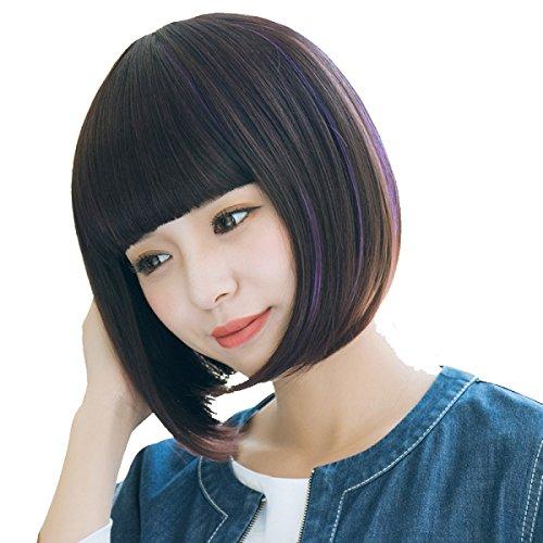 Snifgoij Handsome Gürtelschnalle Perücke Weiblich Kurzes Haar Korea Gesicht Flauschig Süße Haut Freundlich Gemütlich Nein Shine (Haar Gesichts Typ)