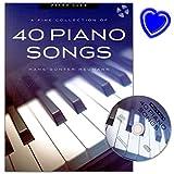 Piano Club A Fine Selection 40 Piano Songs - arrangements von Hans-Günter Heumann - Songbook für Klavier mit CD und bu