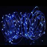 Weihnachtsbeleuchtung, Acelive 10M 100er IP65 Wasserdicht LED Kupferdraht Lichterkette für Innen außen Schlafzimmer Fenste Garten (Blau)