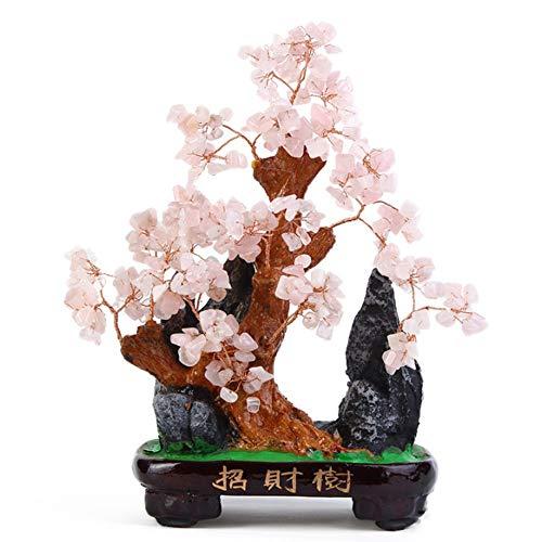 Yayoushen pietra preziosa multicolore feng shui soldi albero di cristallo albero fortunato portafortuna casa ufficio decorazione della tavola - decorazione ufficio buona fortuna