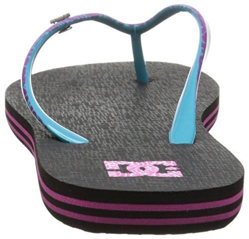 DC Shoes  Spray Se,  Infradito Donna Nero (Noir (Black/Purple))