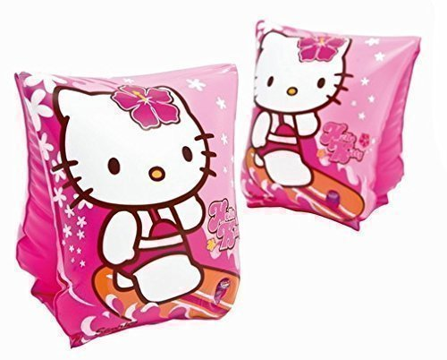 hello-kitty-brassards-gonflable-rose-intex-23x15cm