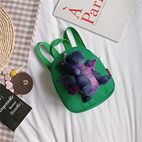 Kinder Tasche, Rucksack Süße Dinosaurier Kleine Rucksack Jungen Und Mädchen Studenten Paket Frühe Kindheit Bildung Hohe Kapazität, Unisex grün -