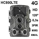 HC-800LTE 4G Cámara de Caza 16MP HD 42 LED Negro desencadenar 0,3 seg cámara de vigilancia cámara Trampa Caza Ángulo de visión 120° Trailcamera Soporta 3G 2G gsm MMC SMTP SMS