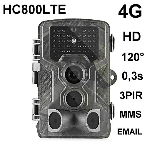 HC-800LTE 4G Wildkamera 16MP Full HD 42 Black LED 0,3 Sek Trigger 120° Fotofalle Überwachungskamera Jagdkamera GSM MMC SMTP SMS Jagd Wild Kamera Hunting Trail Camera Suntek 4G 3G 2G LTE Serie Ir-filter
