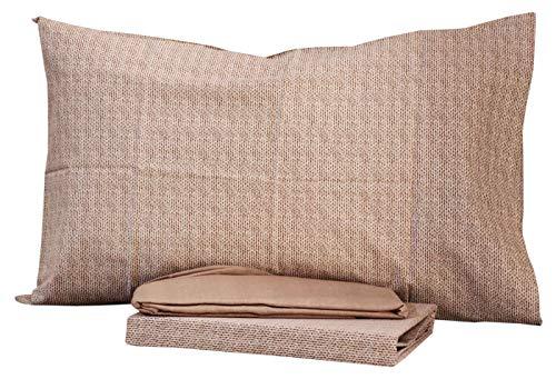 Completo letto una piazza e mezza lenzuola 1,5 piazze bassetti dream 100% cotone sotto + sopra + 1 federe (beth col. 6)