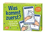 Was kommt zuerst?: Denk- und Legespiele mit 32 Karten für Kinder von 3 bis 8.