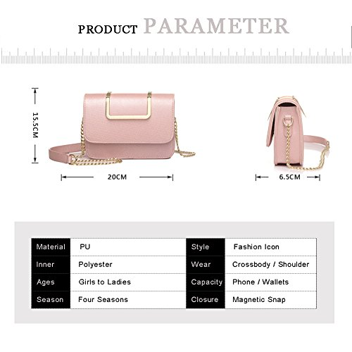 Sacchetti di catena del sacchetto di lusso della borsa a forma di puro di Yoome Upscale per le ragazze Borse di affari per le donne in pelle - Nero bianca