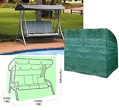 Tukan 3-Sitzer Hängematte Swing mit Seil & Ösen aus Polyethylen Robust mit 2Reißverschlüssen und Grün Farbe Maße L: 215cm x W: 124cm x h: 170cm von Toucan - Gartenmöbel von Du und Dein Garten
