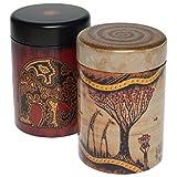 Eigenart Kaffee/Tee Dose Set mit Afrika Motiv 2x 125g