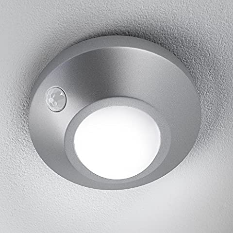 OSRAM IP54 Nightlux Silver Ceiling LED Luminaire, Cold White, 1.7 W