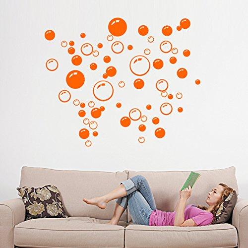 joyliveCY Joystore Abnehmbare Art Vinyl Zitat DIY Wall Sticker Aufkleber Wandbild Dekoration Zimmer Orange Bubble (Orange Zimmer)