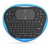 GZD Wireless Aire Ardilla Voladora Android TV Remote Control Mini Ardilla Voladora Teclado Retroiluminado Pantalla , blue